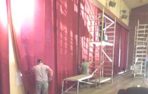 skatuves aizkaru tīrīšana